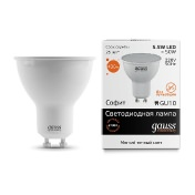 Лампа Gauss LED Elementary MR16 GU10 5.5W 2700К 1/10/100
