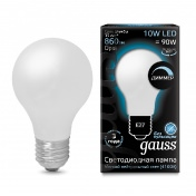 Лампа Gauss LED Filament A60 OPAL dimmable E27 10W 4100К
