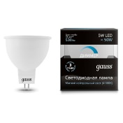 Лампа Gauss LED MR16 GU5.3-dim 5W 4100K  диммируемая