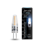 Лампа Gauss LED G4 AC220-240V 2W 4100K 1/20/200