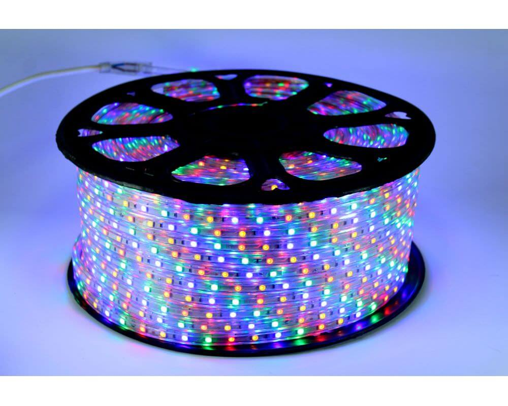 Ecola LED strip 220V STD  9,6W/m IP68 16x8 120Led/m RGB разноцветная лента  50м.