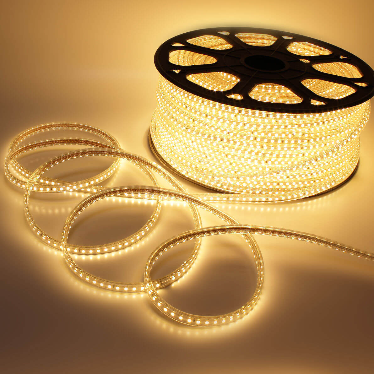 Ecola LED strip 220V STD 14,4W/m IP68 14x7 60Led/m 2800K 12Lm/LED 720Lm/m лента 20м.