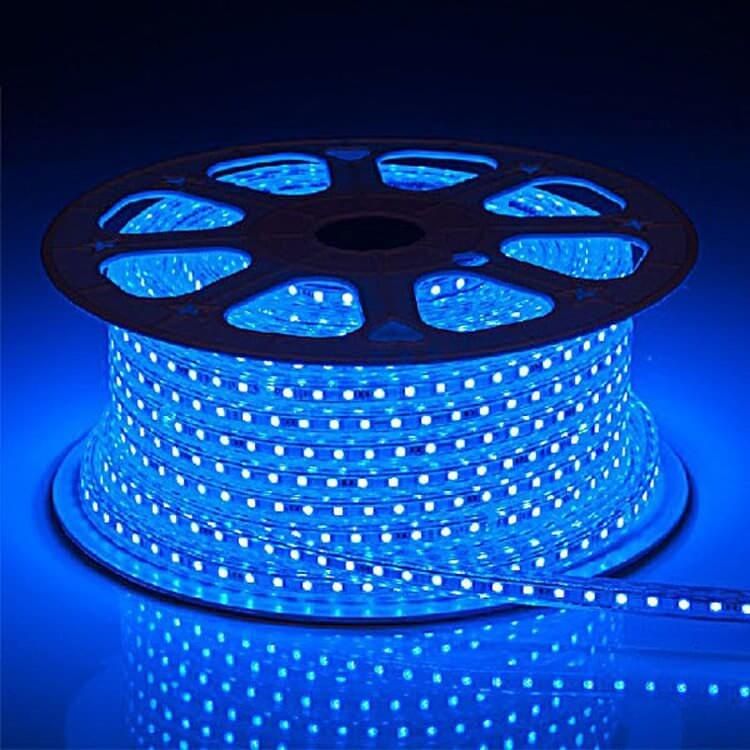 Ecola LED strip 220V STD 14,4W/m IP68 14x7 60Led/m Blue синяя лента  20м.