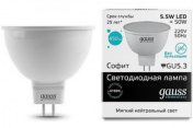 Лампа Gauss LED Elementary MR16 GU5.3 5.5W 4100К 1/10/100
