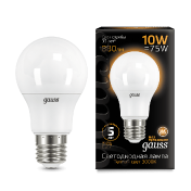 Лампа Gauss LED A60 10W E27 880lm 3000K