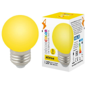 LED-G45-1W/YELLOW/E27/FR/С